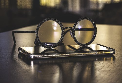 Eyeglasses, Smartphone, Illusion, Mobile, Gadget