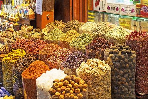 Dubai, Market, Souk, Shopping, Emirates, Spices, Bazaar