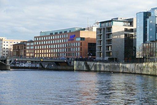 Berlin, Capital, Architecture, Building, Modern, Spree
