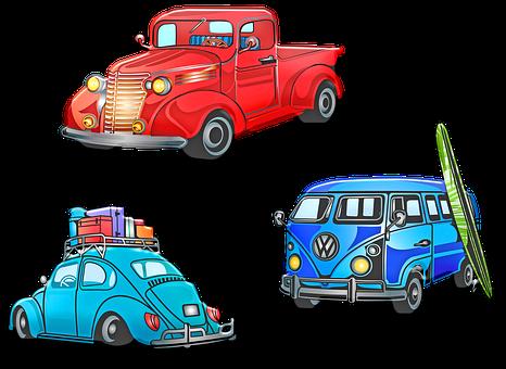 Retro Vehicles, Old Car, Vw Bug, Surfboard, Vw Van, Van
