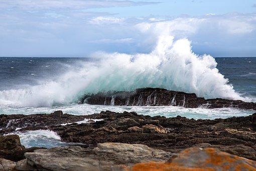 Wave, Water, Sea, Ocean, Beach, Blue, Background