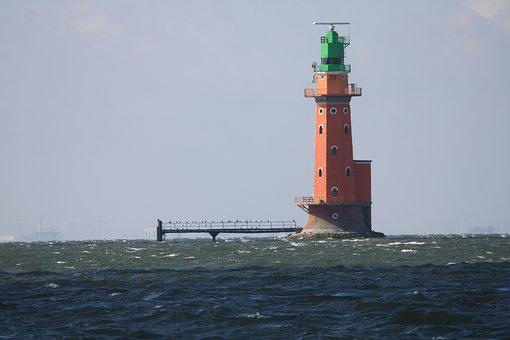 Lighthouse, Weser, Bremerhaven, North Sea, Sea, Tourism