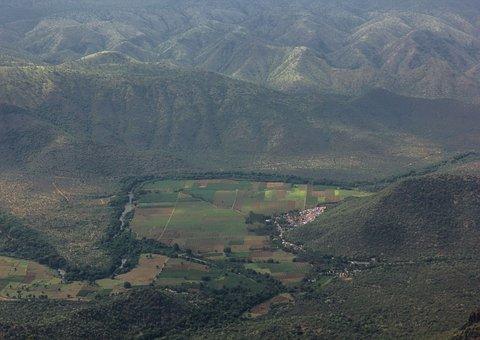 India, Landscape, Western Ghats, Mountains, Village