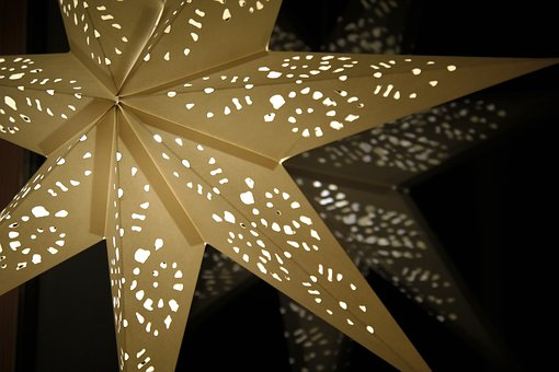 Star, Poinsettia, Shining, Light, Decoration, Advent