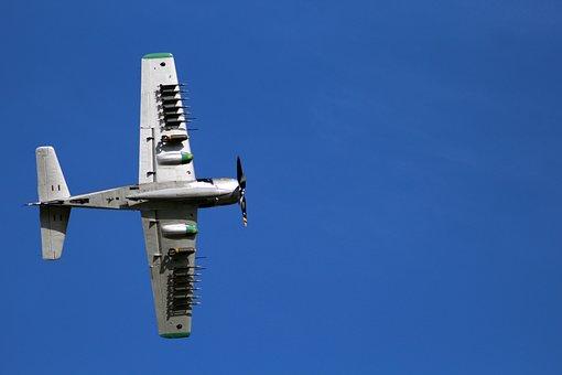 Aircraft, Skyraider, Meeting, Air Show, Park, Base