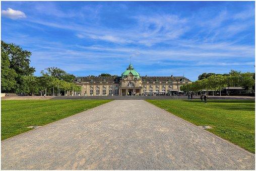 Castle, Garden, Park, Architecture, Historically, Old