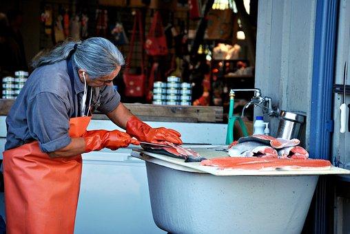 Fish, Worker, Fisherman, Food, Working, Business
