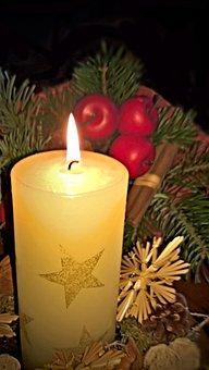 Light, Candle, Advent, Christmas, Burning Flame