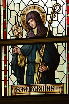Stained Glass, Window, Church, Sainte, Woman, Belgian