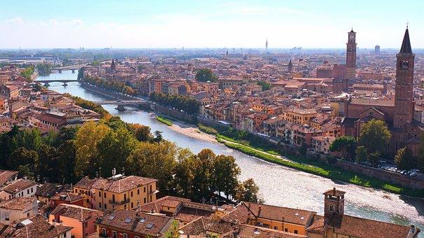 Verona, Bridge, City, Cityscape, History