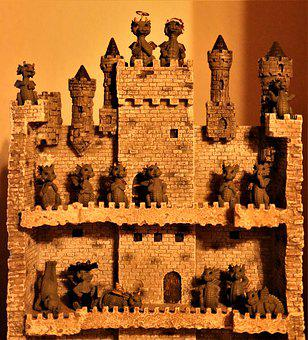 Dragon Castle, Wash, Figures, Decoration, Collectibles