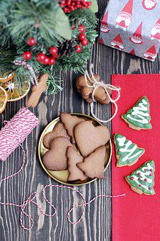 Christmas, Cookies, Gingerbread Cookie, Holiday
