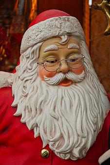 Santa Claus, Decoration, Christmas Market, December