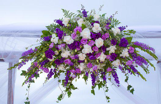 Wedding, Beach, Decor, Purple, Flowers Love, Marriage