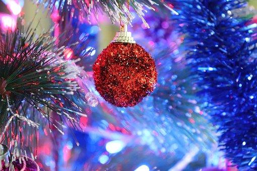 Christmas, Decoration, Red, December, Noel