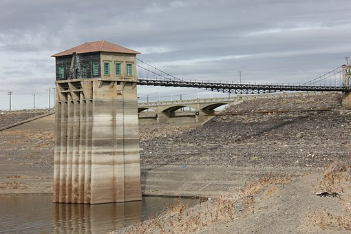 Reservoir, Low, Dry, Water, Drought