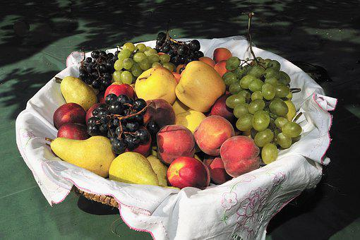 Fruit, Recycle Bin, Summer, Apples, Grapes, Pear, Power