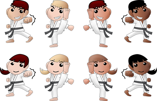 Karate, Boy, Girl, Black Girl, Black Boy, Afro American