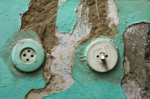 Socket, Light Switch, Switch, Wall Green, Operation
