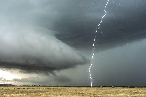 Lightning, Clouds, Thunderstorm, Thunder, Rain, Energy