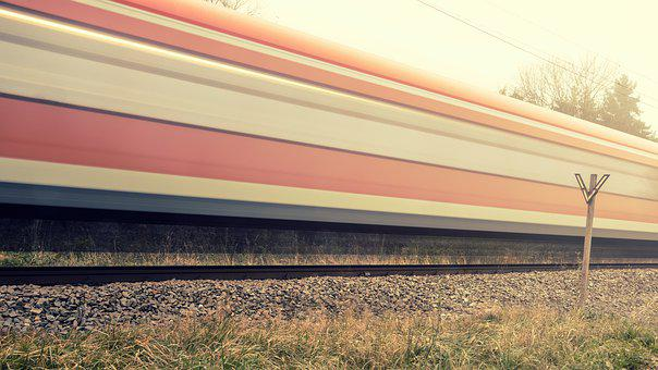Rails, Train, Fog, Route, Weather, Speed, Lights