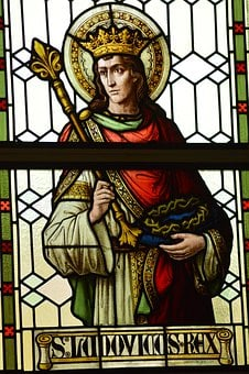 Stained Glass, Window, Church, Saint, Man, King