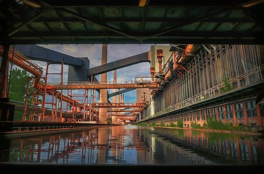 Coking Plant, Zollverein, World Heritage, Mirroring