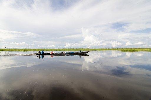 Lake, Boat, Fisherman, Nature, Travel, Landscape