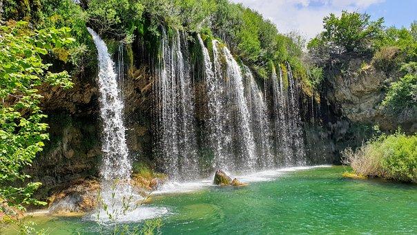 Arroyo Del Molino, Waterfall, Rock, Nature, Source