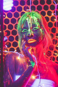Neon, Club, Lights, Bokeh, Garland