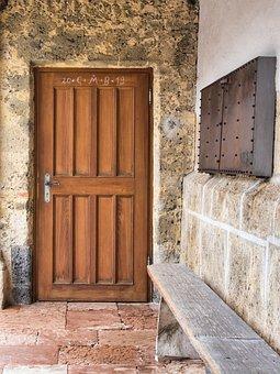 Entrance Door, Door, Input, Old, Architecture