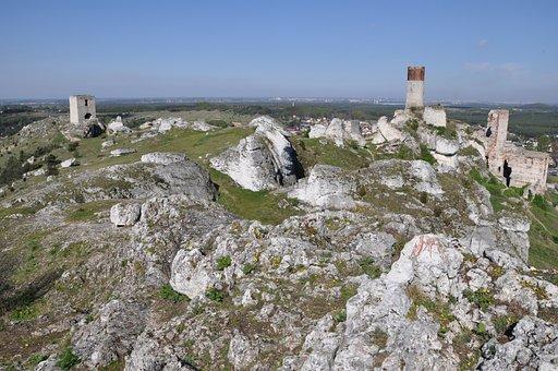Poland, Jura, Crash, The Ruins Of The, Castle, Olsztyn