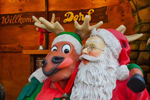 Santa Claus, Decoration, Christmas Market, December