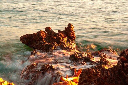 Sea, Flow, Water, Nature, Wave, Ocean, Landscape, Mood