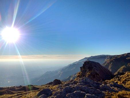 Saws, Mountains, Landscape, Nature, Sky, Sierra, Summer