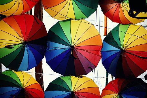 Umbrella, Colorful, Winter, Color, Sky, Syria, Damascus
