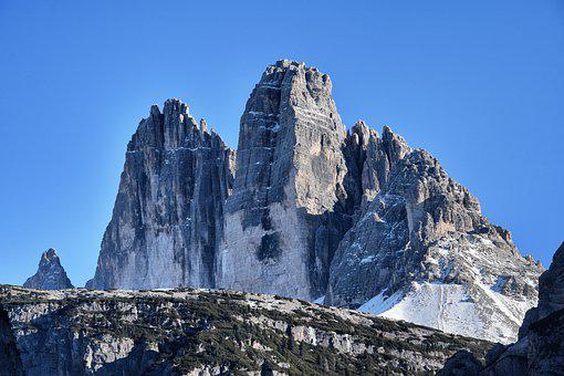 Three Zinnen, Dolomites, South Tyrol, Italy, Alpine