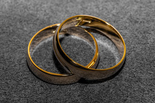 Wedding Rings, Wedding, Gold, Marry, Symbol, Two