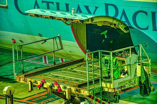 Airplane Baggage Loader, Aviation, Travel, Airport
