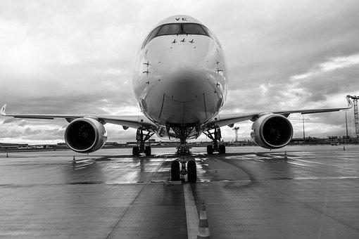 Airplane, Aircraft, Airport, Vehicle, Airliner, Runway
