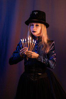Gothic, Woman, A Vampire, Aprire, Vampiric