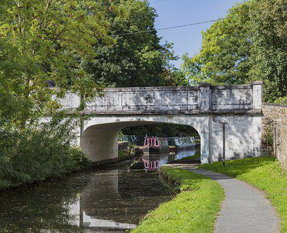 Canal, Boat, Bridge, Reflection, Architecture, Water