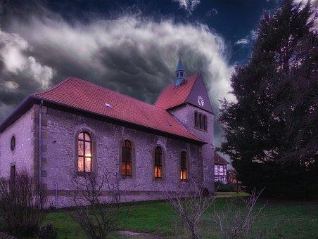 Church, Village Church, Architecture, Religion, Steeple