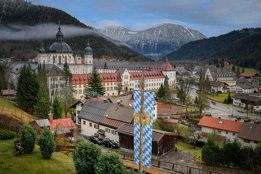 Monastery, Ettal, Bavaria, Architecture, Church