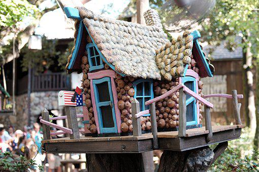 Bird Table, Birdhouse, The Disneyland Resort