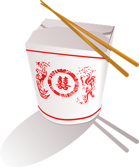 Takeaway, Chinese, Fast Food, Box, China, Chopsticks
