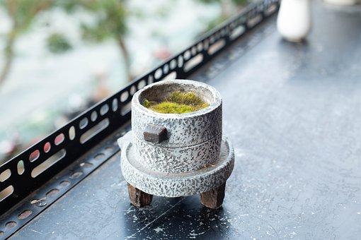 Potted Plants, Neck, Pot, Stone Pots, Balcony, Cafe