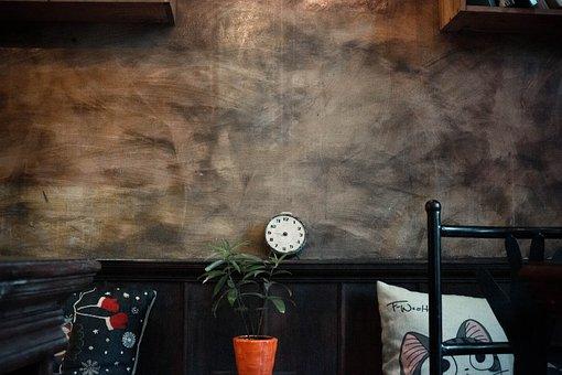 Clock, Pillow, Cafe, Cafe Antique, Christmas, Sad