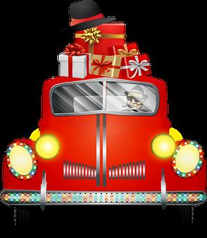 Christmas Car, Christmas Truck, Gangster Car, Mafia