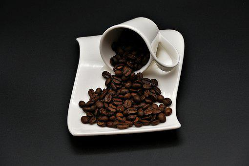 Coffee Beans, Cup, Plate, Coffee Cup, Coffee, Beans